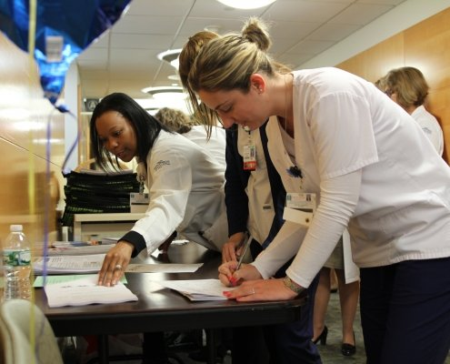 "NYU Winthrop nurses registering for ""Lunch and Learn about Skin Cancer"""