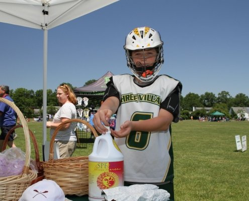 Lacrosse player from Jay Gallagher Memorial tournament