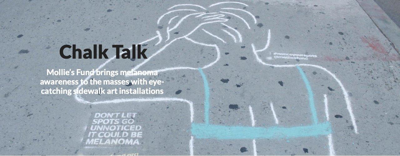 Melanoma Awareness Sidewalk Chalk Campaign