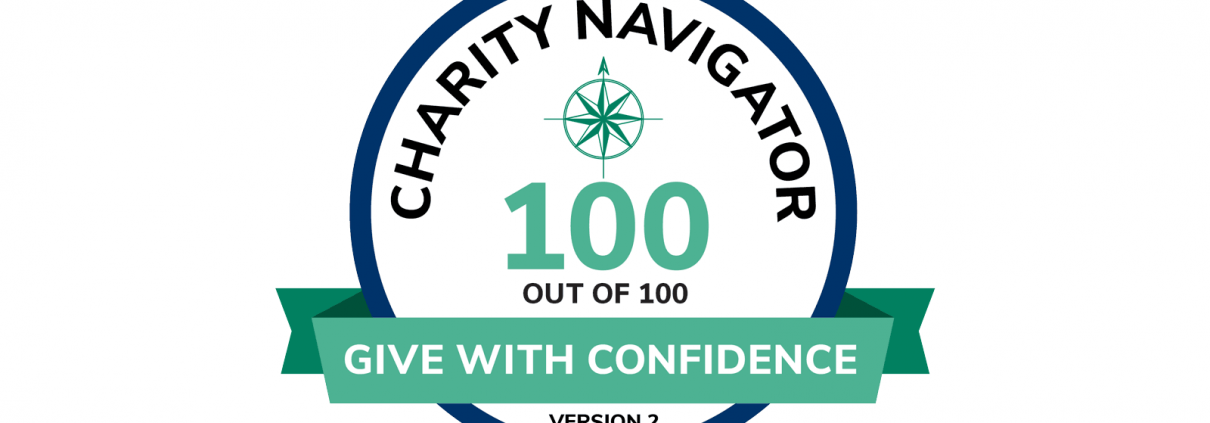 Charity Navigator - 100 out of 100 score logo seal