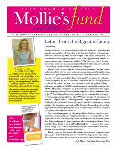 Mollie's Fund Newsletter - 2019